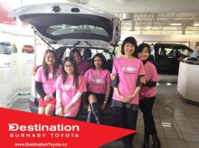 自動車企業からのピンクシャツデーいじめ反対運動のサポーター