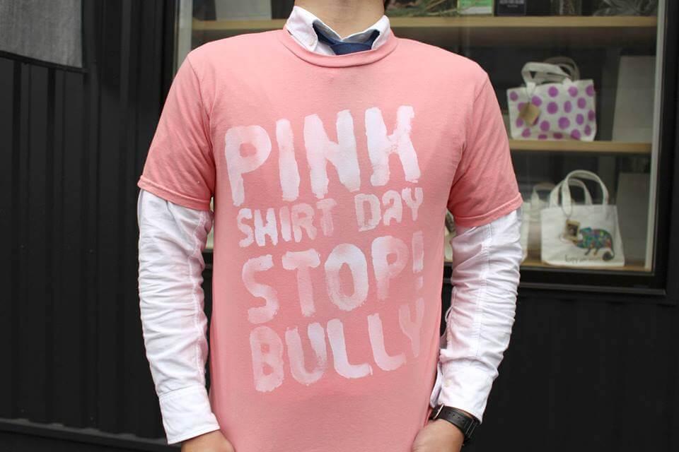 染料屋さんが染め直して作ったピンク色のTシャツ