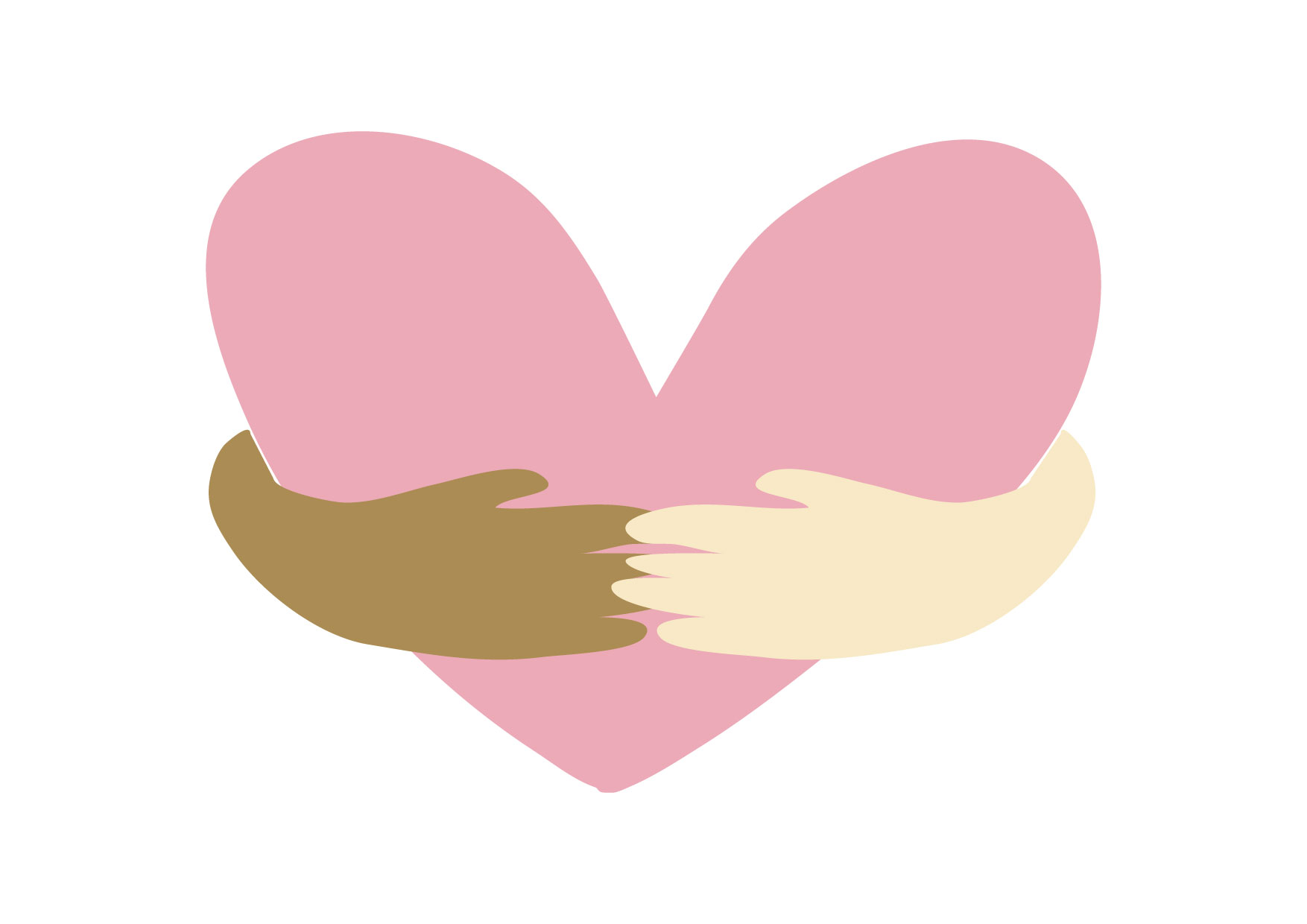 Heart mark in the hands of different races