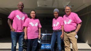 ピンクシャツデーいじめ反対運動に賛同しピンクシャツを着たボツワナ大使館のみなさま
